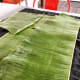 Wash the banana leaves and dry them with a clean towel. Cut the leaves into 9-10 square shapes.