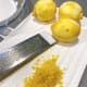 Freshly grated lemons. The citrus smell is just so good. Later, squeeze one lemon to make the lemon glaze.