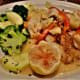 Artichoke snapper with grilled mixed vegetables