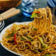 Pancit canton: Sauteed in soy sauce and ginger with squid, shrimp, and vegetables. It can also be cooked with sliced pork and quail eggs.