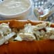 Crab Roll with Clam Chowder