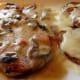 Pollo con champignons