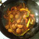 Simmering potato and bell pepper rogan josh