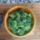 Chop the broccoli into florets and set them aside. Watch the video above if you need help learning how to cut the broccoli into florets.