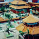 Replicas of smaller vacation palaces outside the Forbidden City