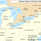Map of the Great Lakes region during the War of 1812