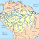 A map of the Amazon River, including its various tributaries.