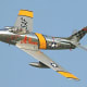 F-86 Sabre. The Sabre, introduced in 1947, was the American counterpart to the Russian Mig 15 - the two iconic fighters of the Korean War. Both have been flown by Eric Brown, and the F-86 was one of his favourite jets to fly for its ease of handling.