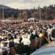 Some of the 25,000 people at Big Cedar to hear President John F. Kennedy