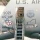 Art on a C-5A indicating Major Air Command, The aircraft's home location, and some fun nose art.