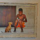 Boy and Dog in Cuba Behind Open Doors by Kevin Douglas West