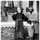 Fr. Solanus giving a blessing, 1956
