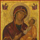 This type of icon, known as the Hodegitria Mother of God, is popular among eastern Christian. She points the way to Christ. The stars on her garments, however, are not in reference to Stella Maris but symbolize her perpetual virginity.