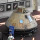 The famous command module on display at the Smithsonian Institution.