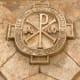 The Chi-Rho symbol.
