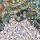 """Gyre"" Close-up, Chris Jordan, 2009 (Depicts some of the millions of pieces of plastic seen in the image above.)"