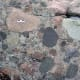 The big rounded gravel particles can be seen clearly in this Conglomerate from Australia!