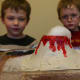 Paint (with acrylic paint), seal the volcano, and enjoy some baking soda and vinegar eruptions!