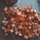 The sweet potatoes cut into chunks.