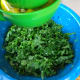 Shred the kale and and massage in the lemon juice. This helps break down the cell membranes and allow the kale to soften. The acidity from the lemon lightly cooks the kale to allow for easier digestion.