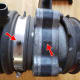 Mass air flow sensor:  note the connection point