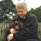 Former president Bill Clinton with his Lab, Buddy.