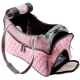 This carrier is a stylish, lightweight option for small dogs.