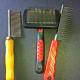 Combs and slicker brush.