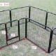 """Black finish heavy duty crate in 24"""" height."""