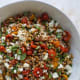 Slow-roasted tomato farro salad