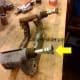 Caliper slide pins in the caliper bracket.