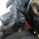 Power steering pump locking bolt.