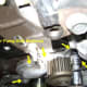 Z. Removal of the the 5SFE water pump mounting bolts