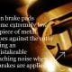 Brake pad warning squeaker