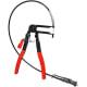 Flexible wire-shaft long reach hose clamp pliers