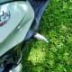 Open passenger foot-peg of Piaggio Liberty 150