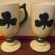 Large Green Shamrock Mugs