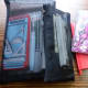 Wherever I go notebooks and see thru pouches to contain small important stuff!
