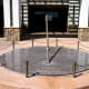 A 9-ft diameter granite sundial at The Surprise Crossing shopping Center in Surprise Arizona.