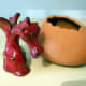 This Bangor Pottery Welsh Dragon is the only one I have ever found complete with the original 'egg' - soon to be listed on eBay!