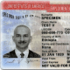 This is a sample Employment Authorization Card (not an actual card).