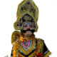 An actor dressed for the role of Ravana.