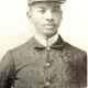 W.C. Handy is in the uniform he wore when he played with the Hampton Band in Evansville, Indiana.