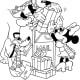 Mickey, Minnie and Pluto Christmas Printable