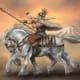Odin astride his 8-legged horse Sleipnir