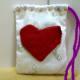 Make a Cute Heart Pouch as a handmade gift