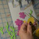 Cut colored flowers.