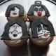 Kiss band cupcakes.