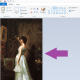 You should now see your image in Paint.  (Image is Public Domain image courtesy of Wikimedia Commons---http://commons.wikimedia.org/wiki/File:DeScott_Evans_The_Connoisseur.jpg