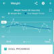 The Fitbit Aria automatically begins to contribute to your Fitbit app weight history when you start using it, making tracking weight over time uniquely easy.